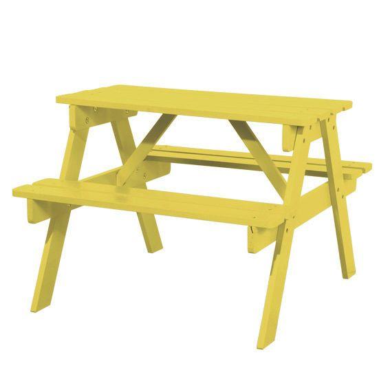 table pique nique pour enfant jaune mobilier pour enfant eminza. Black Bedroom Furniture Sets. Home Design Ideas