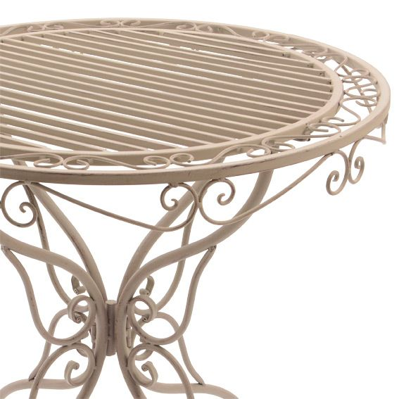 Table Ronde Louise Style Fer Forg Taupe Table De Jardin Eminza