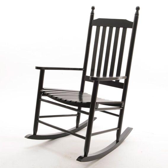fauteuil bascule bois noir hamac et accessoires eminza. Black Bedroom Furniture Sets. Home Design Ideas