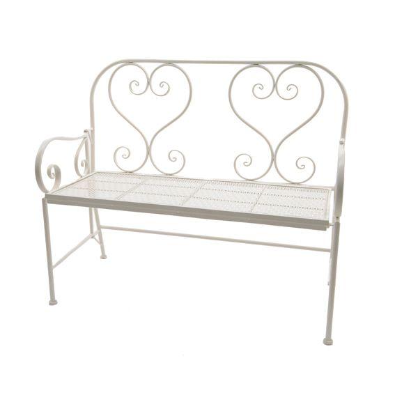 banc de jardin louis blanc banc de jardin eminza. Black Bedroom Furniture Sets. Home Design Ideas