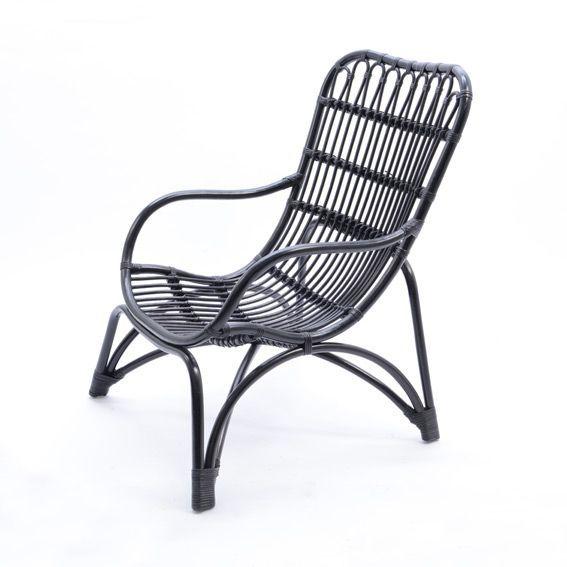 fauteuil en rotin noir hamac et accessoires eminza. Black Bedroom Furniture Sets. Home Design Ideas