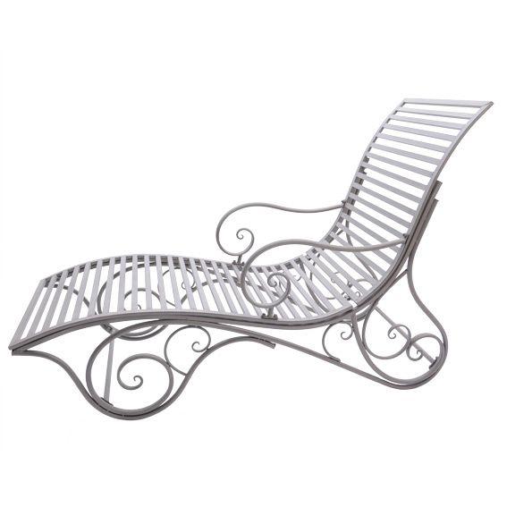 lit de jardin augustin style fer forg taupe bain de soleil eminza. Black Bedroom Furniture Sets. Home Design Ideas