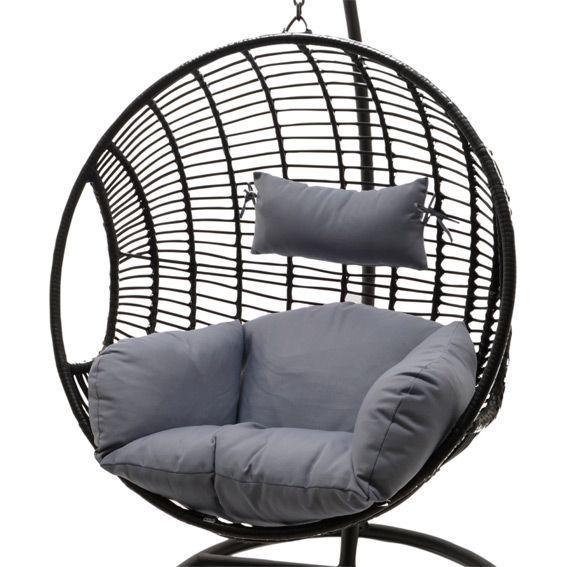 Loveuse jazzy gris noir balancelle eminza for Loveuse de jardin