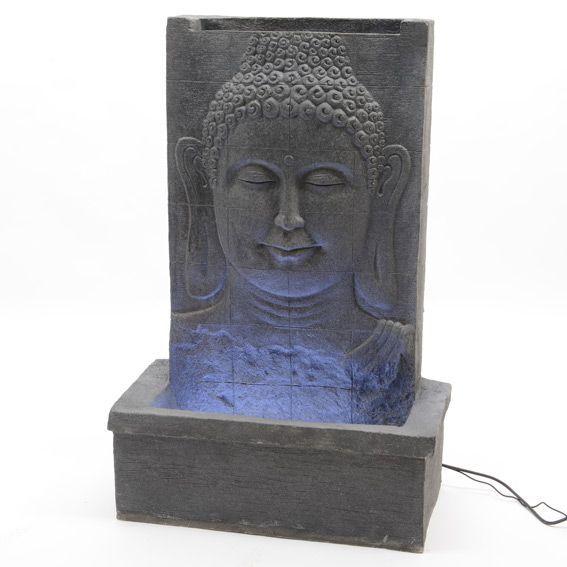 Fontaine bouddha sourieur decoration lumineuse eminza for Decoration jardin lumineuse