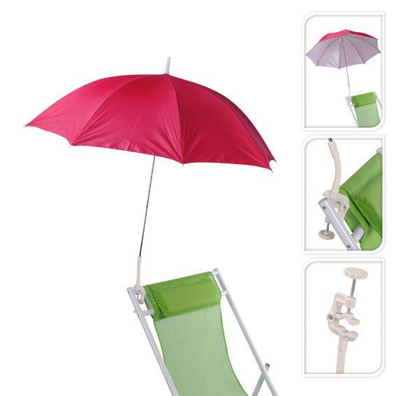 parasol de plage clipsable rose parasol voile et paravent eminza. Black Bedroom Furniture Sets. Home Design Ideas