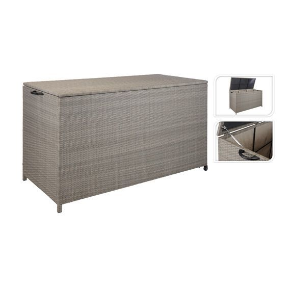 coffre de rangement chicago luxe taupe petit mobilier de jardin eminza. Black Bedroom Furniture Sets. Home Design Ideas