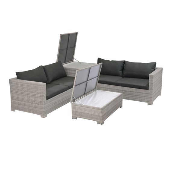 salon de jardin trapani taupe clair 4 places salon de jardin d tente eminza. Black Bedroom Furniture Sets. Home Design Ideas