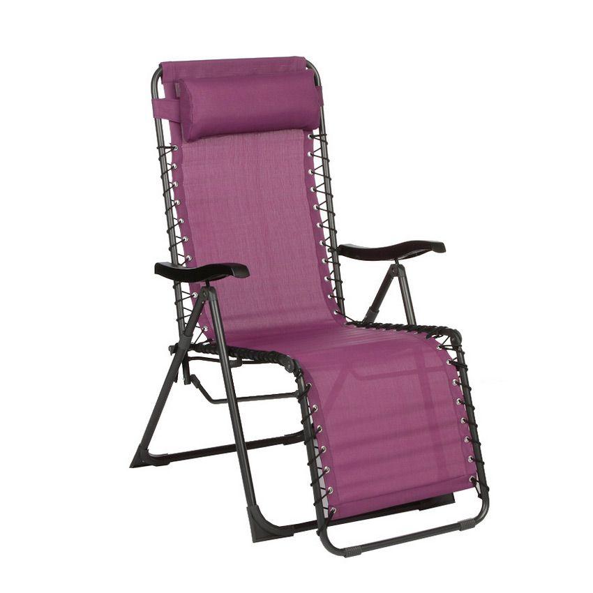 Fauteuil d tente silos prune bain de soleil et hamac for Bain de soleil fauteuil