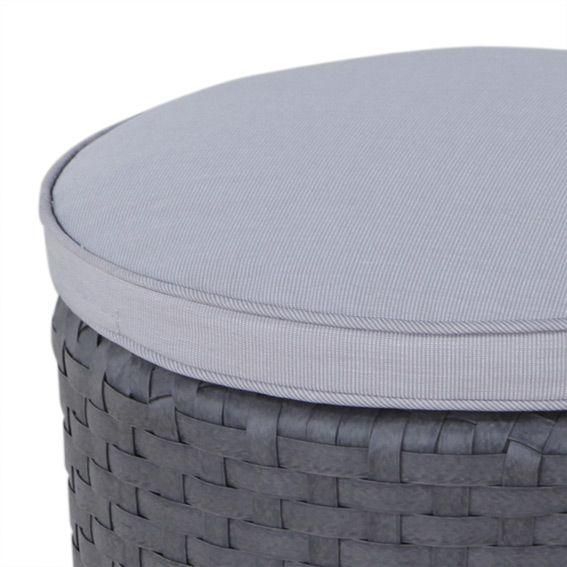 pouf de jardin rhodes gris anthracite chaise et fauteuil de jardin eminza. Black Bedroom Furniture Sets. Home Design Ideas