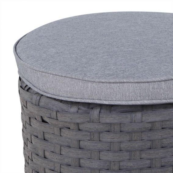 pouf de salon rhodes gris et taupe chaise et fauteuil de. Black Bedroom Furniture Sets. Home Design Ideas