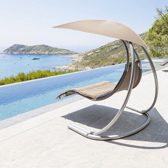 fauteuil suspendu brasilia taupe balancelle eminza. Black Bedroom Furniture Sets. Home Design Ideas