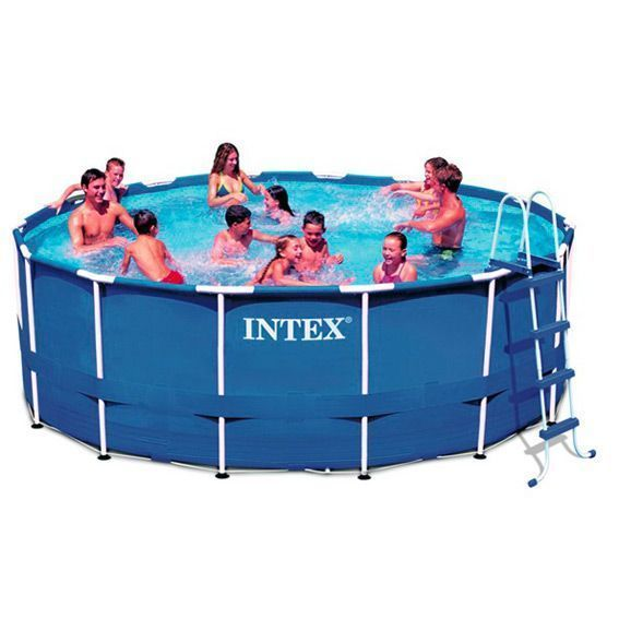 Piscine tubulaire ronde 3 66 x 0 99 m metal intex for Piscine tubulaire 3 66 x 0 99