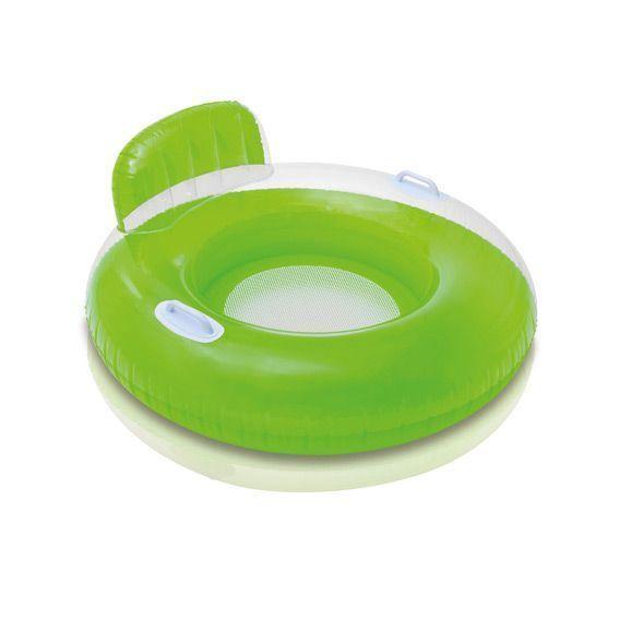 Fauteuil gonflable baguy rond avec poign vert jeux et accessoires eminza - Mobilier jardin gonflable ...