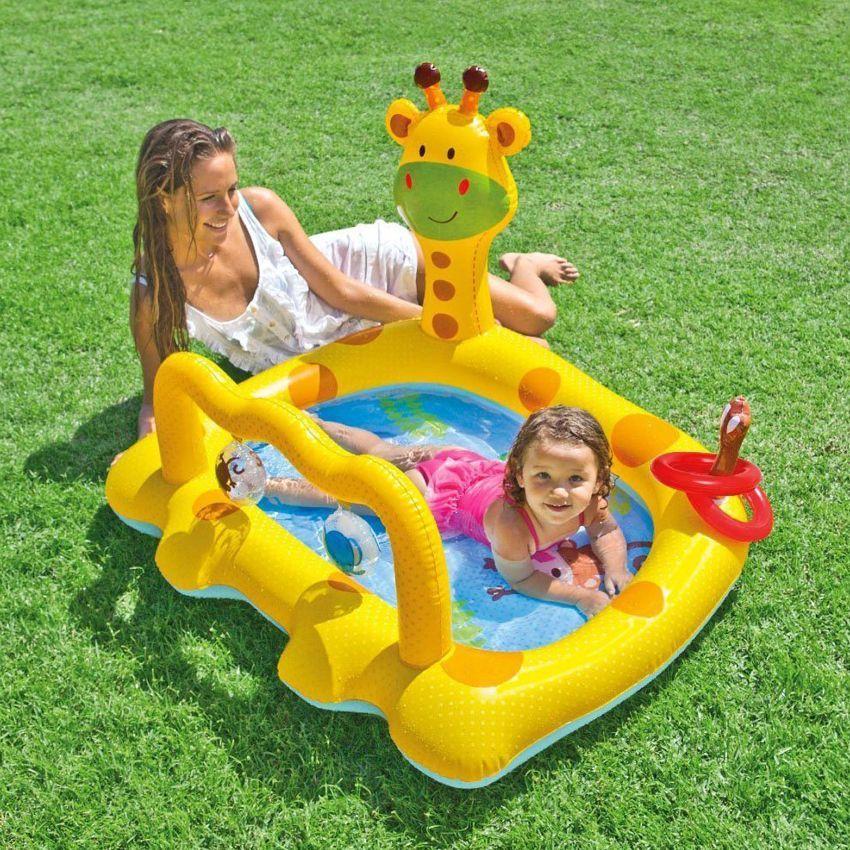 Piscine 1er ge girafe intex jeux et accessoires eminza - Mobilier jardin gonflable ...