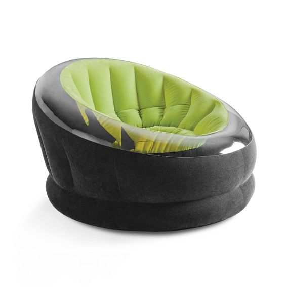 Fauteuil gonflable onyx vert intex mobilier gonflable eminza - Mobilier jardin gonflable ...