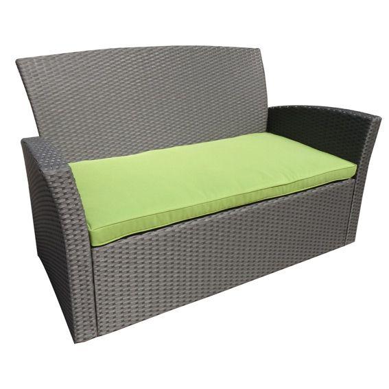 coussin de canap 2 places ibiza anis coussin d. Black Bedroom Furniture Sets. Home Design Ideas