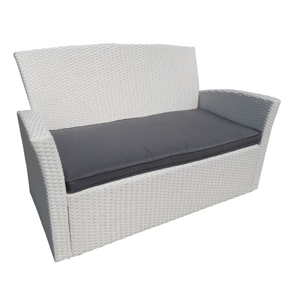 coussin de canap 2 places ibiza gris fonc salon de jardin eminza. Black Bedroom Furniture Sets. Home Design Ideas
