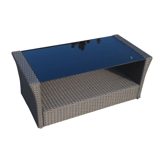 Table basse de jardin ibiza gris anthracite salon de - Table basse gris anthracite ...