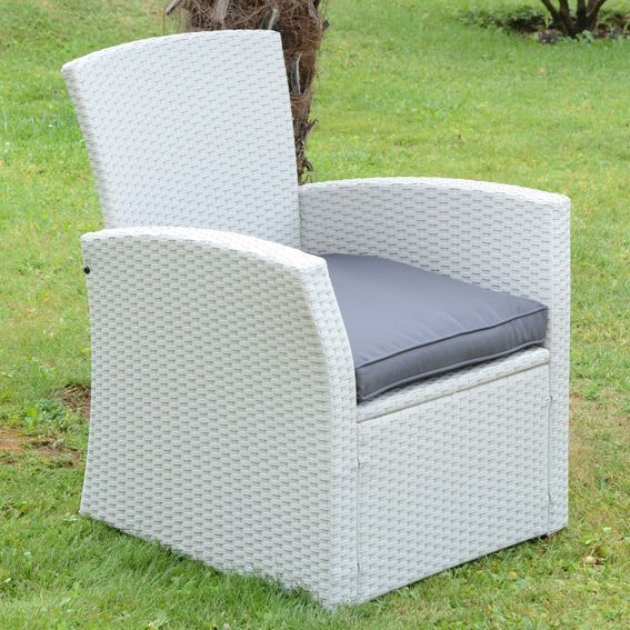 fauteuil de jardin ibiza blanc anthracite salon de jardin d tente eminza. Black Bedroom Furniture Sets. Home Design Ideas