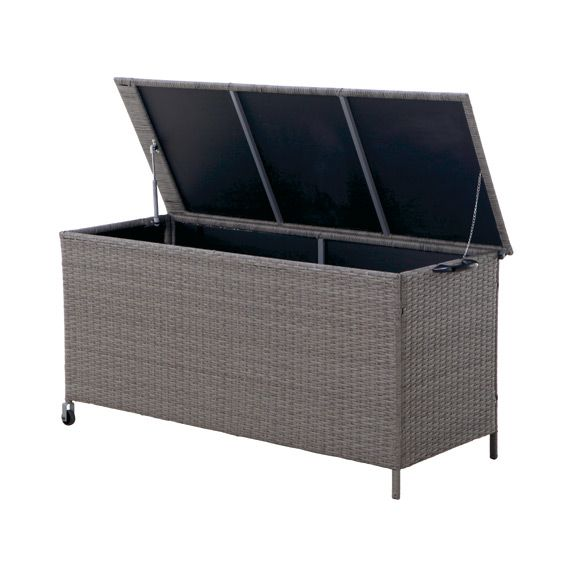 coffre de rangement belize gris petit mobilier de jardin eminza. Black Bedroom Furniture Sets. Home Design Ideas