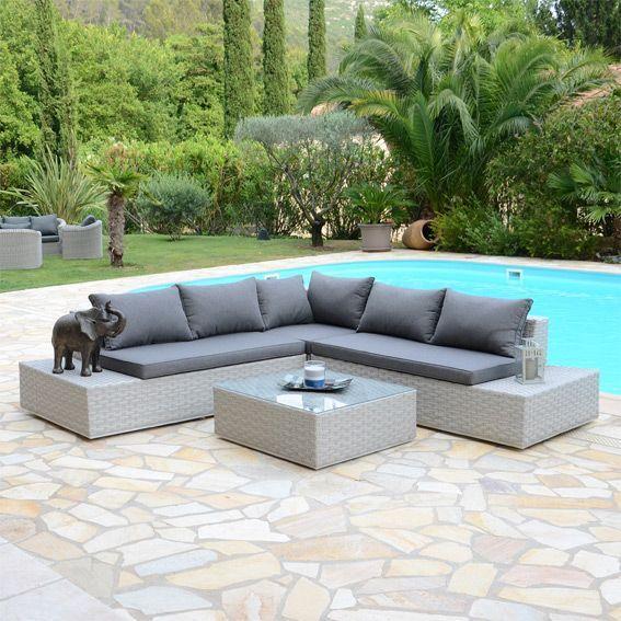 Salon de jardin california led 5 places salon de jardin eminza - California salon de jardin 5 places ...