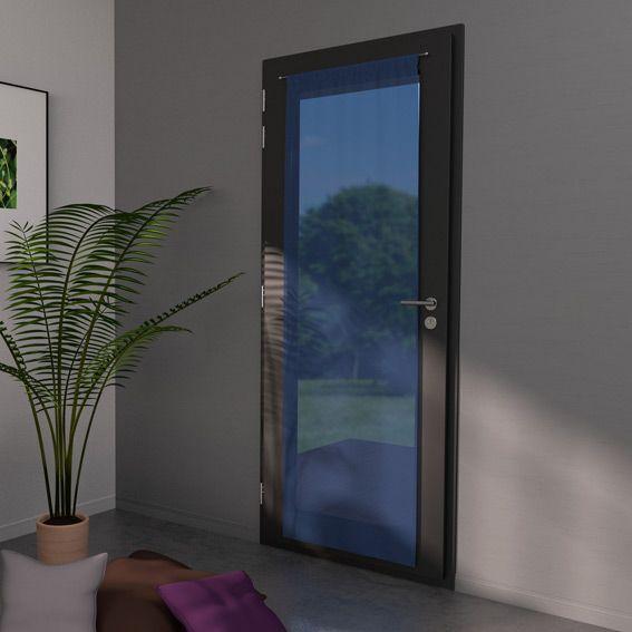 voilage vitrage 70 x h200 cm classico bleu ciel rideau et voilage eminza. Black Bedroom Furniture Sets. Home Design Ideas