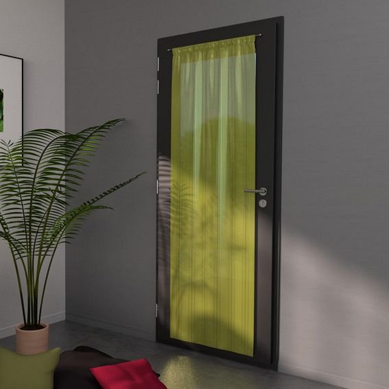 Voilage vitrage 70 x h200 cm classico ray fenouil for Voilage porte fenetre salon