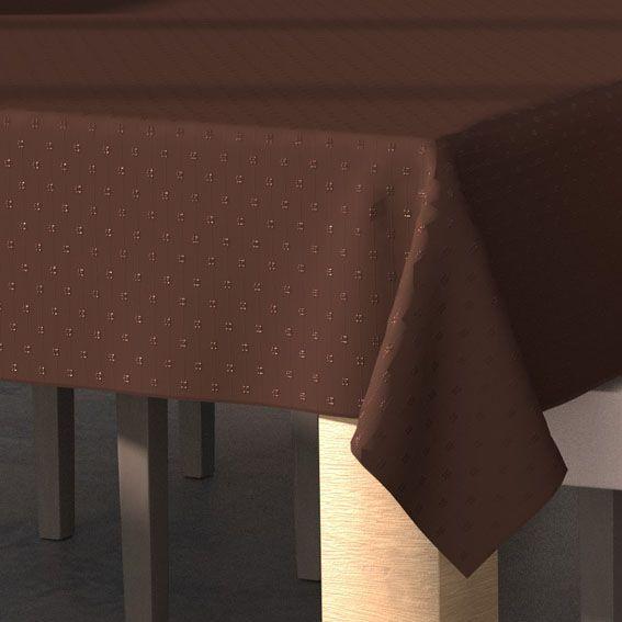 Nappe rectangulaire l240 cm palermo chocolat nappe de for Nappe de table rectangulaire