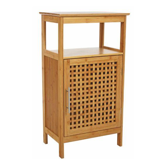 Meuble bas de salle de bain bambou meuble bas eminza - Mobili in bambu ...