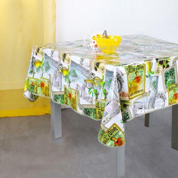 nappe cir e carr e l140 cm oil vert linge de table eminza. Black Bedroom Furniture Sets. Home Design Ideas