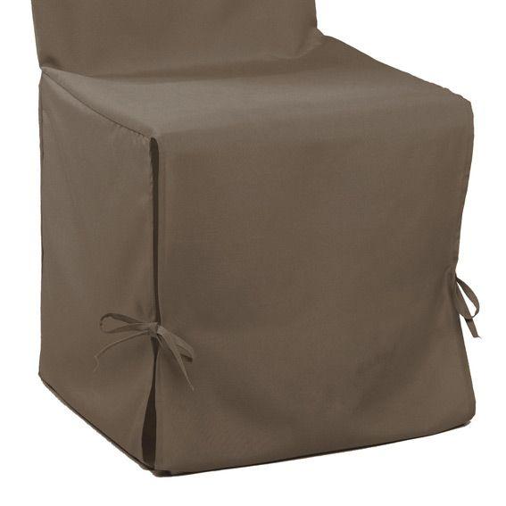 housse de chaise gamme essentiel taupe housse de canap chaise eminza. Black Bedroom Furniture Sets. Home Design Ideas