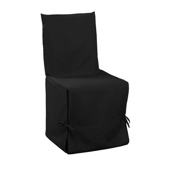 housse de chaise gamme essentiel noir housse de chaise eminza. Black Bedroom Furniture Sets. Home Design Ideas