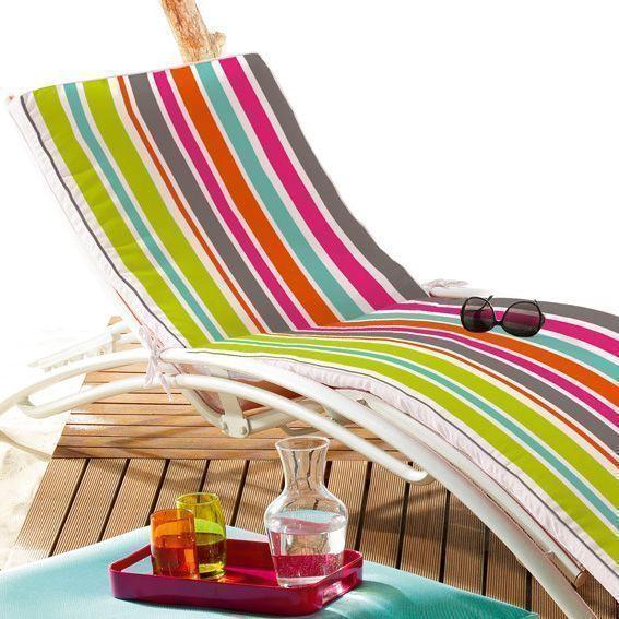 Coussin bain de soleil sierra multicolore coussin de - Housse pour coussin bain de soleil ...