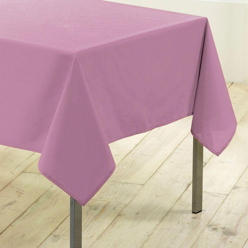 Nappe rectangulaire l200 cm gamme essentiel rose poudr - Nappe rose poudre ...