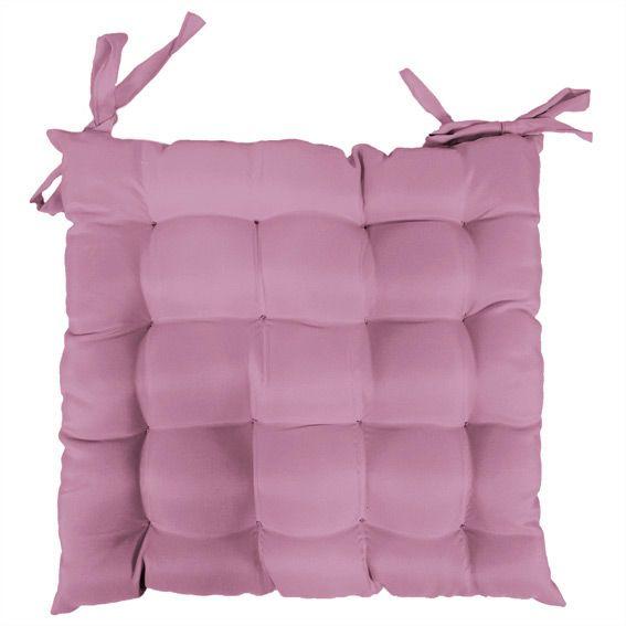coussin de chaise carr gamme essentiel rose poudr galette et coussin de chaise eminza. Black Bedroom Furniture Sets. Home Design Ideas