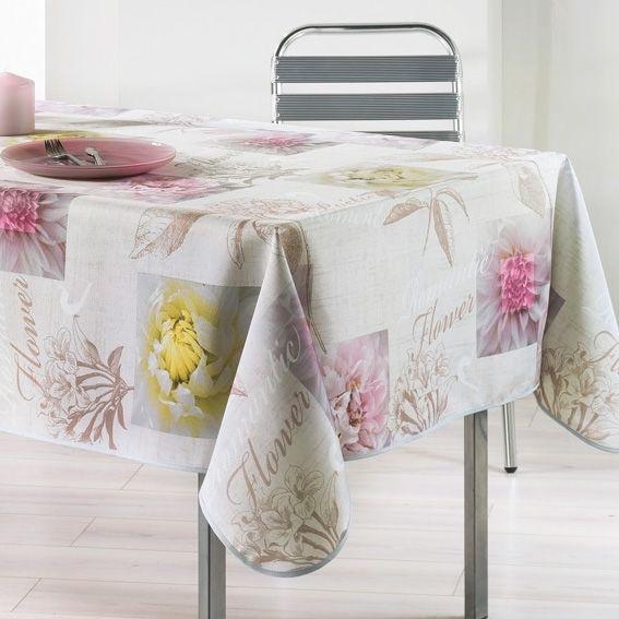 Nappe rectangulaire l240 cm romantic flower nappe de for Nappe de table rectangulaire