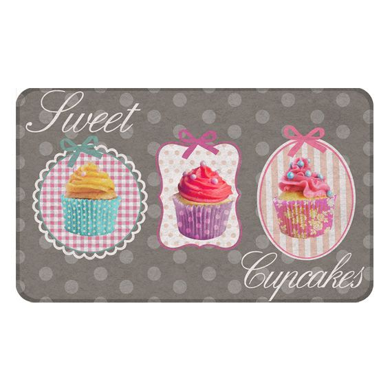 Tapis multi usage 75 cm cupcakes gris tapis multi for Tapis cuisine original