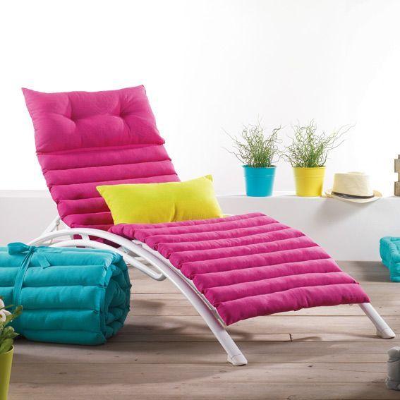 coussin bain de soleil pacifique turquoise coussin et housse de protection eminza. Black Bedroom Furniture Sets. Home Design Ideas