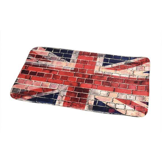 tapis de bain union jack l90 cm rouge tapis salle de. Black Bedroom Furniture Sets. Home Design Ideas