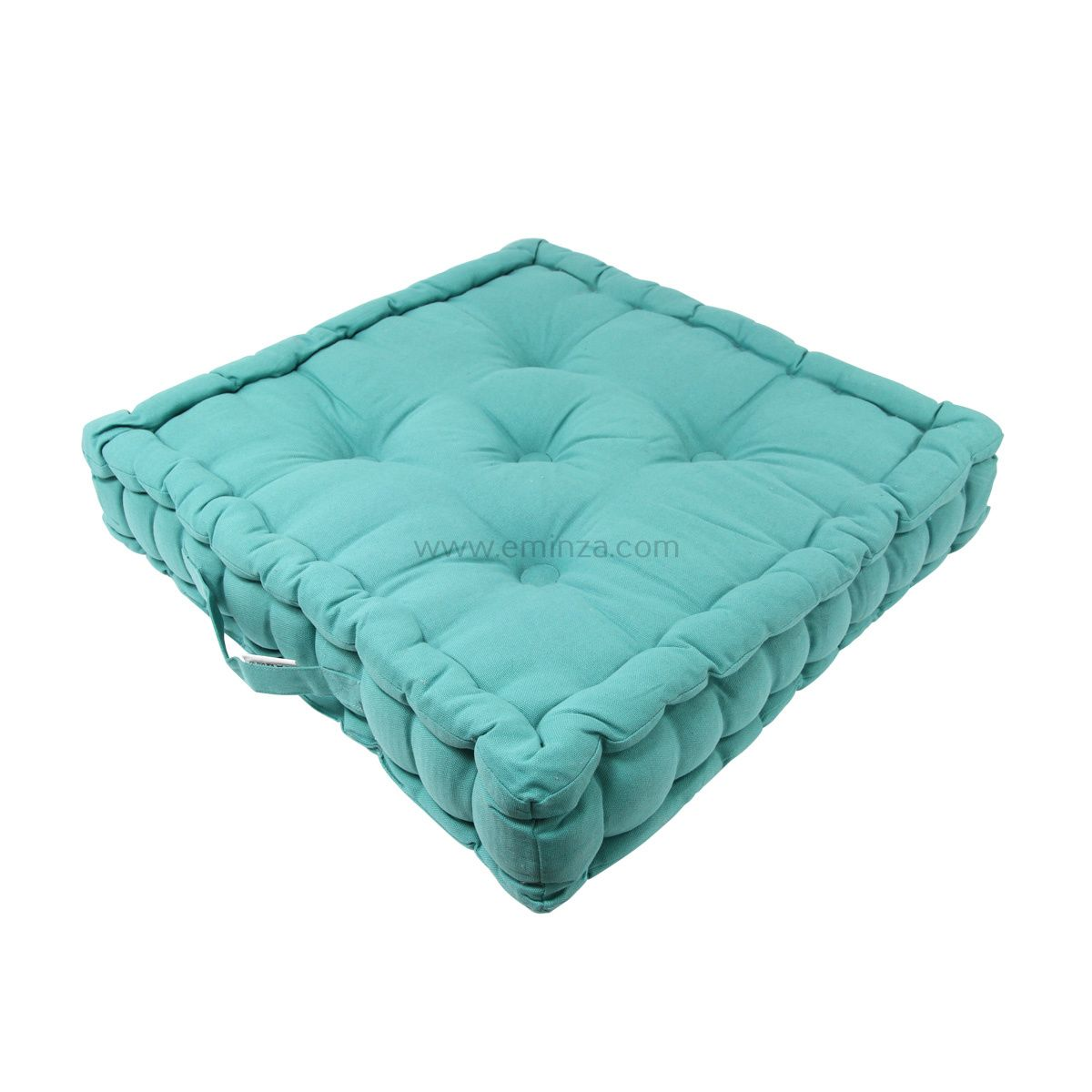 coussin de sol 50 cm etna bleu caraibe coussin de sol et pouf eminza. Black Bedroom Furniture Sets. Home Design Ideas