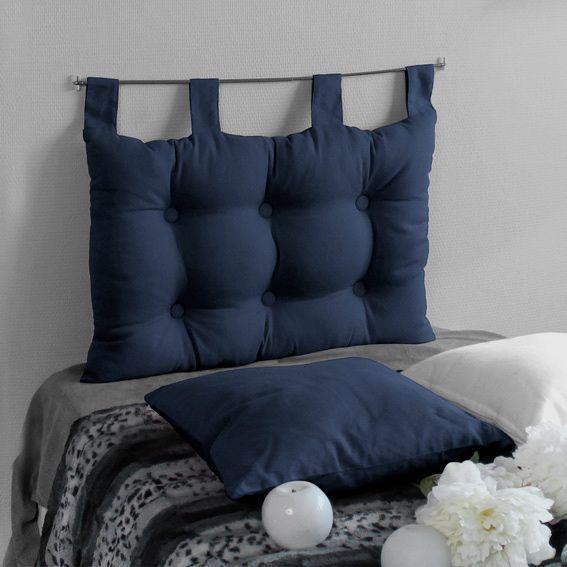 t te de lit 70 cm etna bleu marine t te de lit eminza. Black Bedroom Furniture Sets. Home Design Ideas