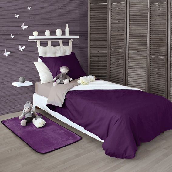 housse de couette 140 cm twice violet housse de. Black Bedroom Furniture Sets. Home Design Ideas