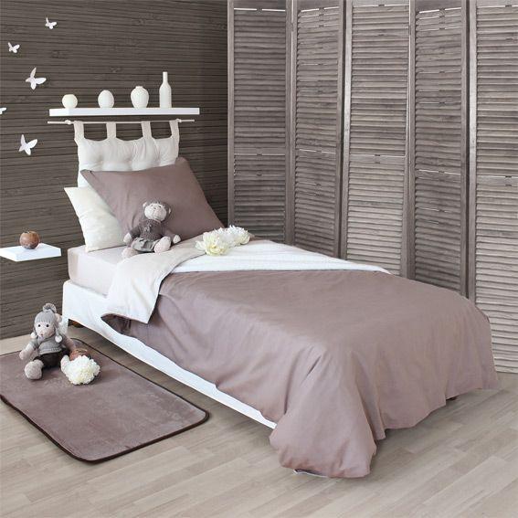 housse de couette 140 cm twice taupe housse de couette eminza. Black Bedroom Furniture Sets. Home Design Ideas