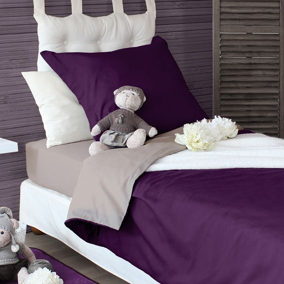 housse de couette 240 cm twice violet housse de. Black Bedroom Furniture Sets. Home Design Ideas