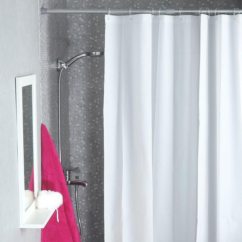 rideau de douche vita blanc rideau de douche eminza. Black Bedroom Furniture Sets. Home Design Ideas