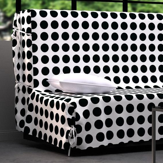 housse de clic clac rings noir et blanc housse de clic. Black Bedroom Furniture Sets. Home Design Ideas