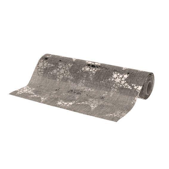 Chemin de table etoiles gris linge de table eminza for Chemin de table gris anthracite