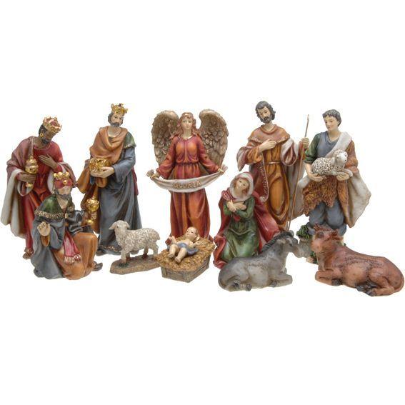Les 11 santons de madeleine santons et personnages eminza - Personnage creche de noel ...