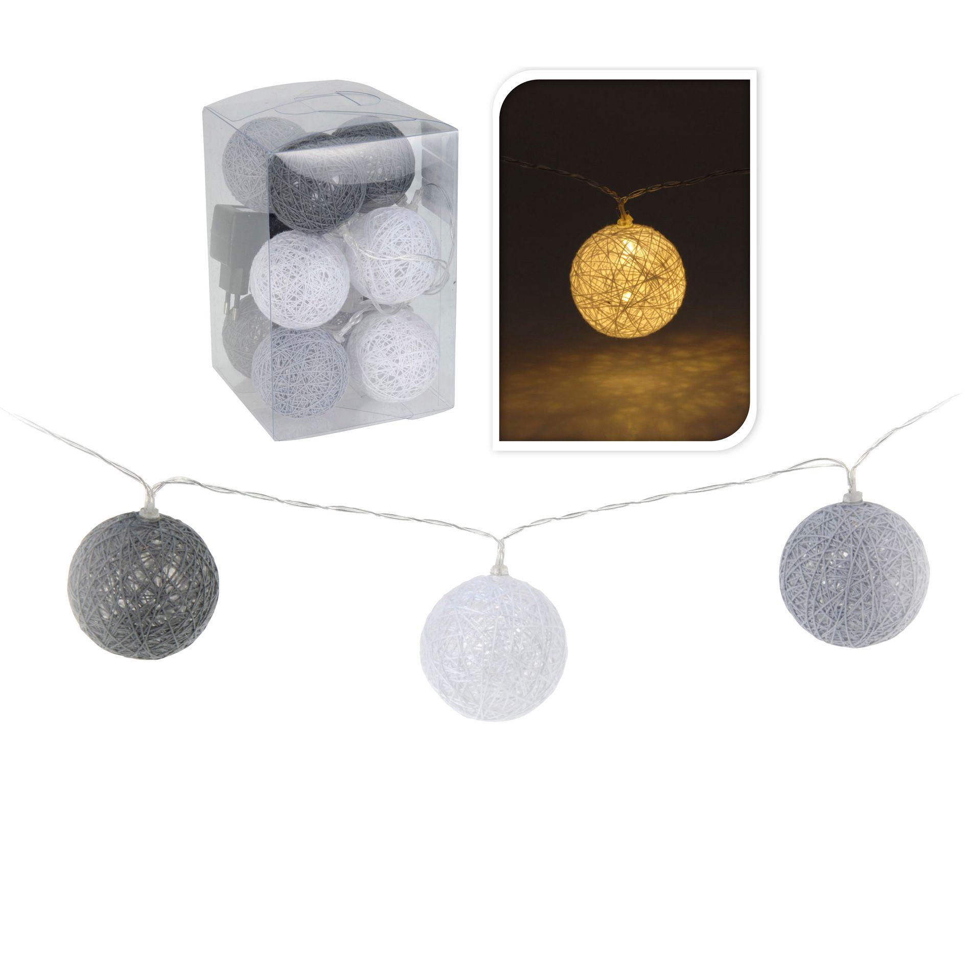 guirlande lumineuse boule raffia blanc chaud 10 led guirlande lumineuse eminza. Black Bedroom Furniture Sets. Home Design Ideas