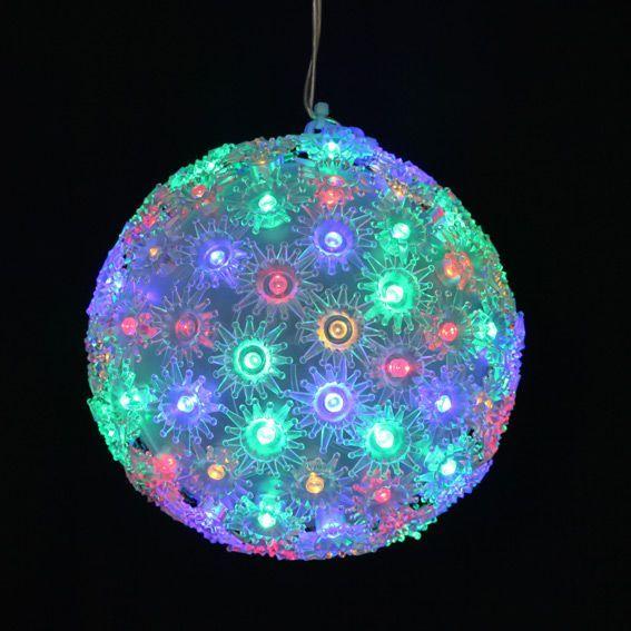 boule lumineuse diodon multicouleur 100 led silhouette lumineuse eminza. Black Bedroom Furniture Sets. Home Design Ideas